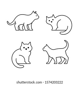 Set of Cats line icons. Icon design. Template elements