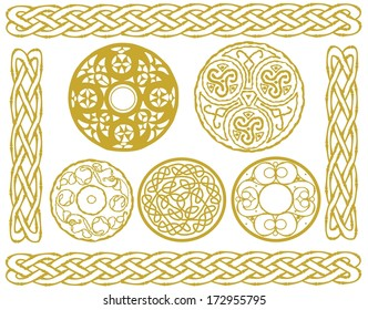 set of celtic designs