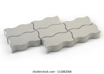 A set of concrete paving wave