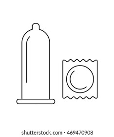 Set of Condom symbols. prevention of sexually transmitted diseases