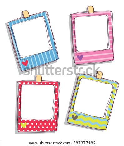 Set Cute Frame Stock Illustration 387377182 - Shutterstock