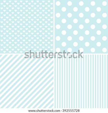 Set Cute Patterns Collection Backgrounds Stock Illustration Magnificent Cute Patterns