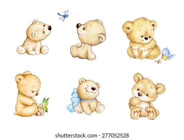 Set of cute Teddy bears
