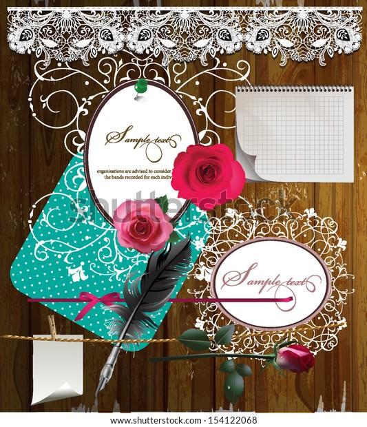 Set of design elements, raster version