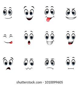 Set of different emoticons