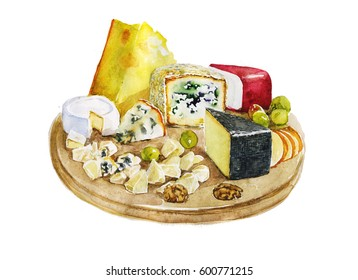 set of different tasty cheese