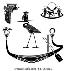 Set of egyptian ancient symbol, egyptian element