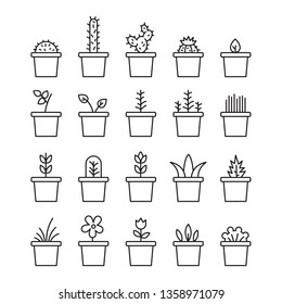 Set floral plants and blooming cactus in pots isolated on white background circuit illustration illustration. Lot flowering plants and cacti on white background illustration image