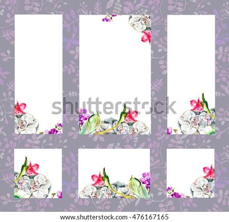 set forms congratulations invitations menu a stock illustration