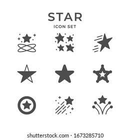 Stern-Symbole einzeln auf Weiß