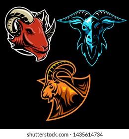 Set Of Goat Sport and Team Logo | For Esport Team, Streamer and Badge