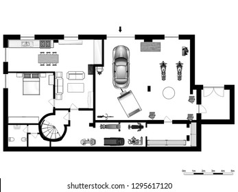 Set of groundfloor blueprints