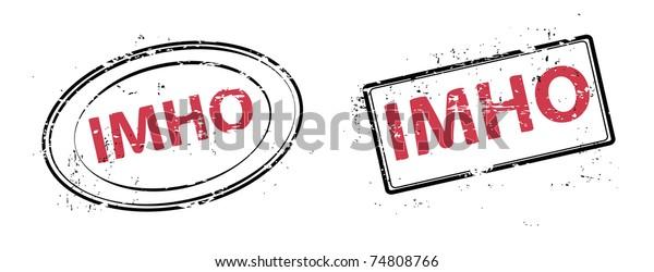 the set grunge stamp IMHO  vector illustration