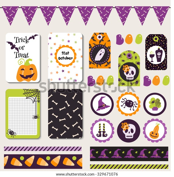 image relating to Printable Halloween Banners named Mounted Halloween Printable Playing cards Banners Stickers Inventory