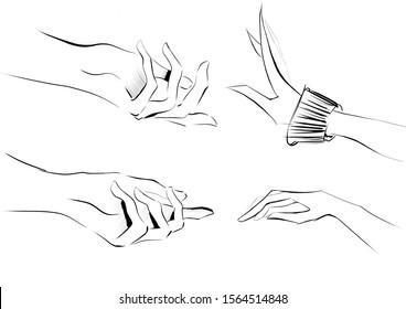 Set of hand gestures, Hand sings
