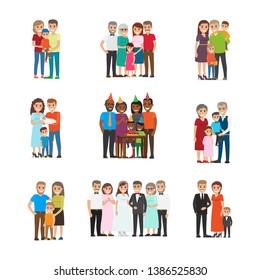 家族 イラストの画像写真素材ベクター画像 Shutterstock