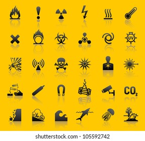 Set hazard warning symbols. Eps version also available in my portfolio