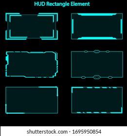 Set of hud rectangle elements,Futuristic Sci Fi Modern User Interface Set.hud rectangle elements,head up display,hud elements