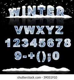 Set - ice letters. Part 2