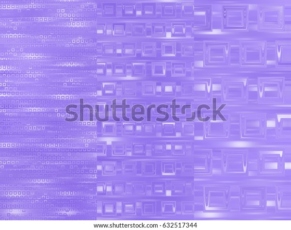 A set of illustrations with abstract purple background - three background