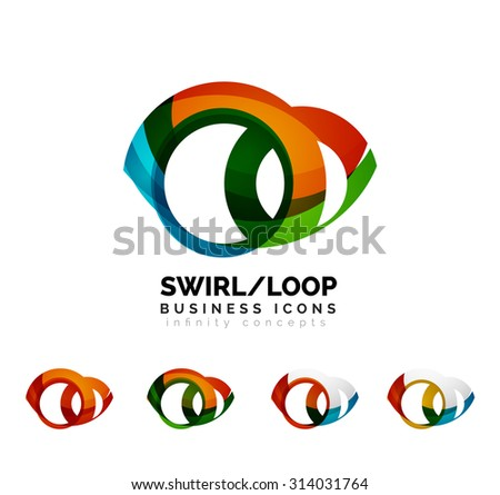 Set Infinity Concepts Loop Logo Designs Stock Illustration 314031764