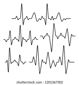 Set of isolated heartbeat lines