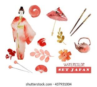 Set Japan.Items Japanese style.