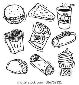 Hot Dog Line Drawing Images Stock Photos Vectors Shutterstock