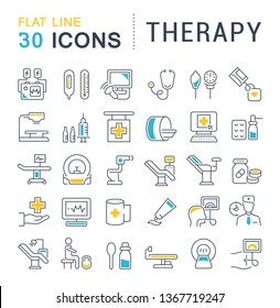 Set of line icons of therapy for modern concepts, web and apps.