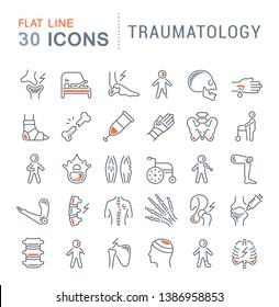 Set of line icons of traumatology for modern concepts, web and apps.