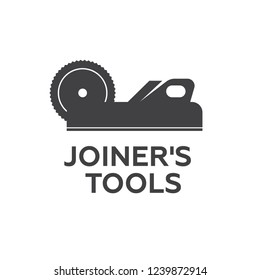 A set of logos, emblems of joiner's tools . Joiner tools