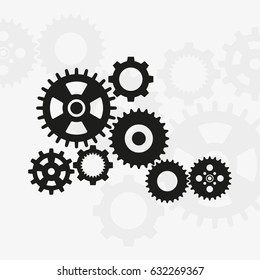 machine gears stock illustrations images vectors shutterstock Futuristic Guns set of machine gears icon