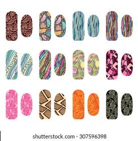 Set Nail Designs Beauty Salon Vector Stock Vector (Royalty Free ...