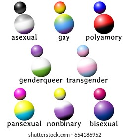 Set of people-shaped icons with queer flag colors (jpg);