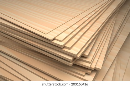 set of plywood, industrial illustration