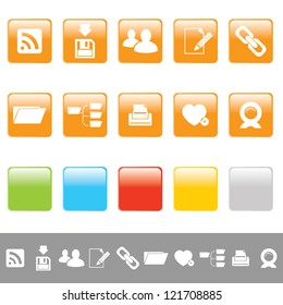 set of rectangular web icons