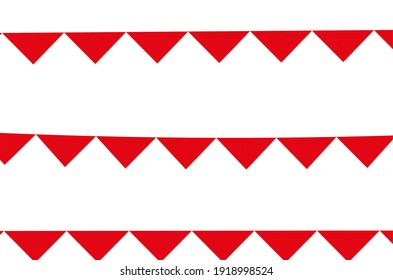 set of red celebration flags