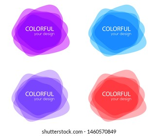 Set of round colorful shapes. Abstract  banners. Design elements.