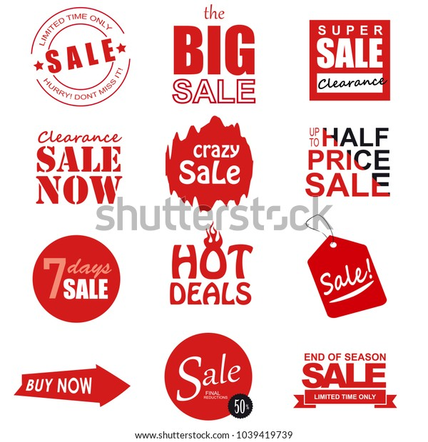Set of sale icons, banners, design elements.