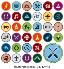 Boy Scout Merit Badge Images, Stock Photos & Vectors