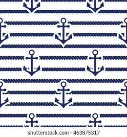Set of sea and nautical seamless patterns. illustration nautical pattern abstract textile sailor summer anchor symbols. Travel nautical seamless pattern geometric style ornament.