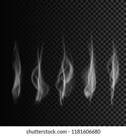 Set of smoke. smoke shapes. smoke template