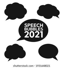 Set of speech bubbles. Cloud bubble speech for communication