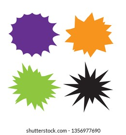 Set of starburst, sunburst badges. Starburst isolated icons set