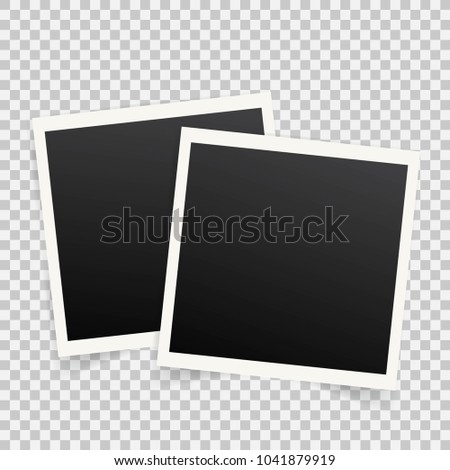 set template photo frames shadow onのイラスト素材 1041879919