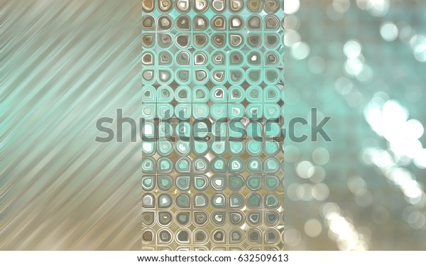 Set of three multicolored backgrounds and illustrations with abstract picture