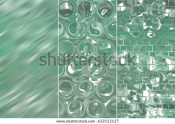 Set of three vintage backgrounds and illustrations with abstract picture