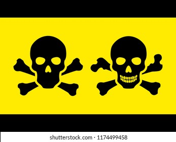 Set Toxic safety Hazard Danger Harmful Malware Virus  sign illustration isolated on background