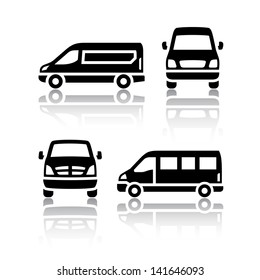 Set of transport icons - Cargo van (copy of the my vector)