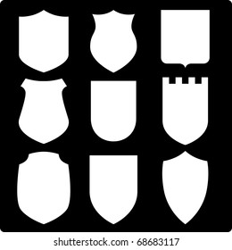 Set of various shields. Raster version. Vector version is also available.